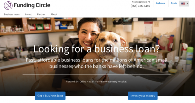 Applying for a small business loan at Funding Circle.