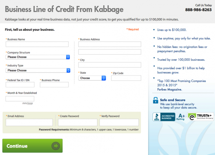 Getting a business loan from Kabbage: How to apply