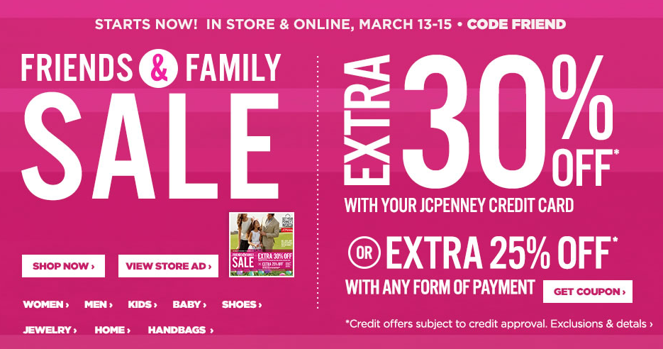 Take An Extra 25 Off During The J C Penney Friends