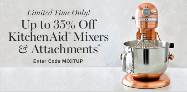 35% off KitchenAid Mixers at Williams-Sonoma