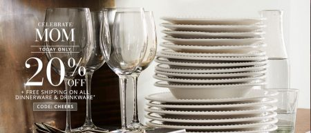 20% off Dinnerware and Drinkware at Pottery Barn