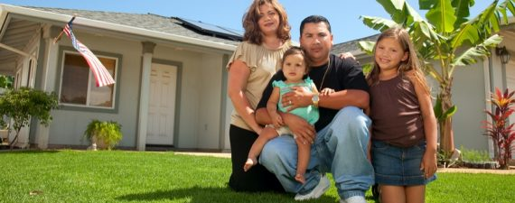 Hispanic family portrait.