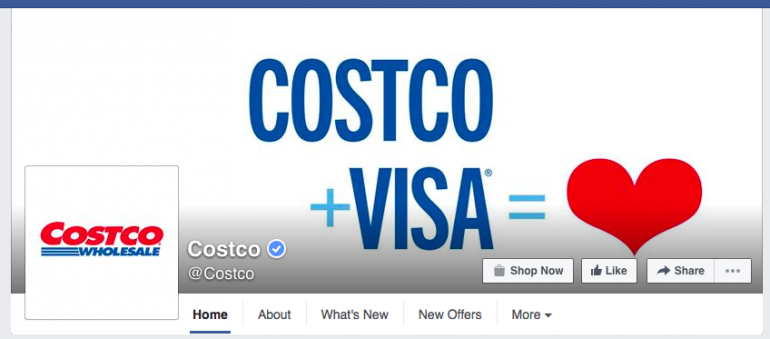 Costco Facebook Page