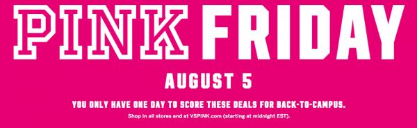 6ac3f3c2e6 Victoria s Secret  Pink Friday  2016 Sale Coming Aug. 5 - NerdWallet