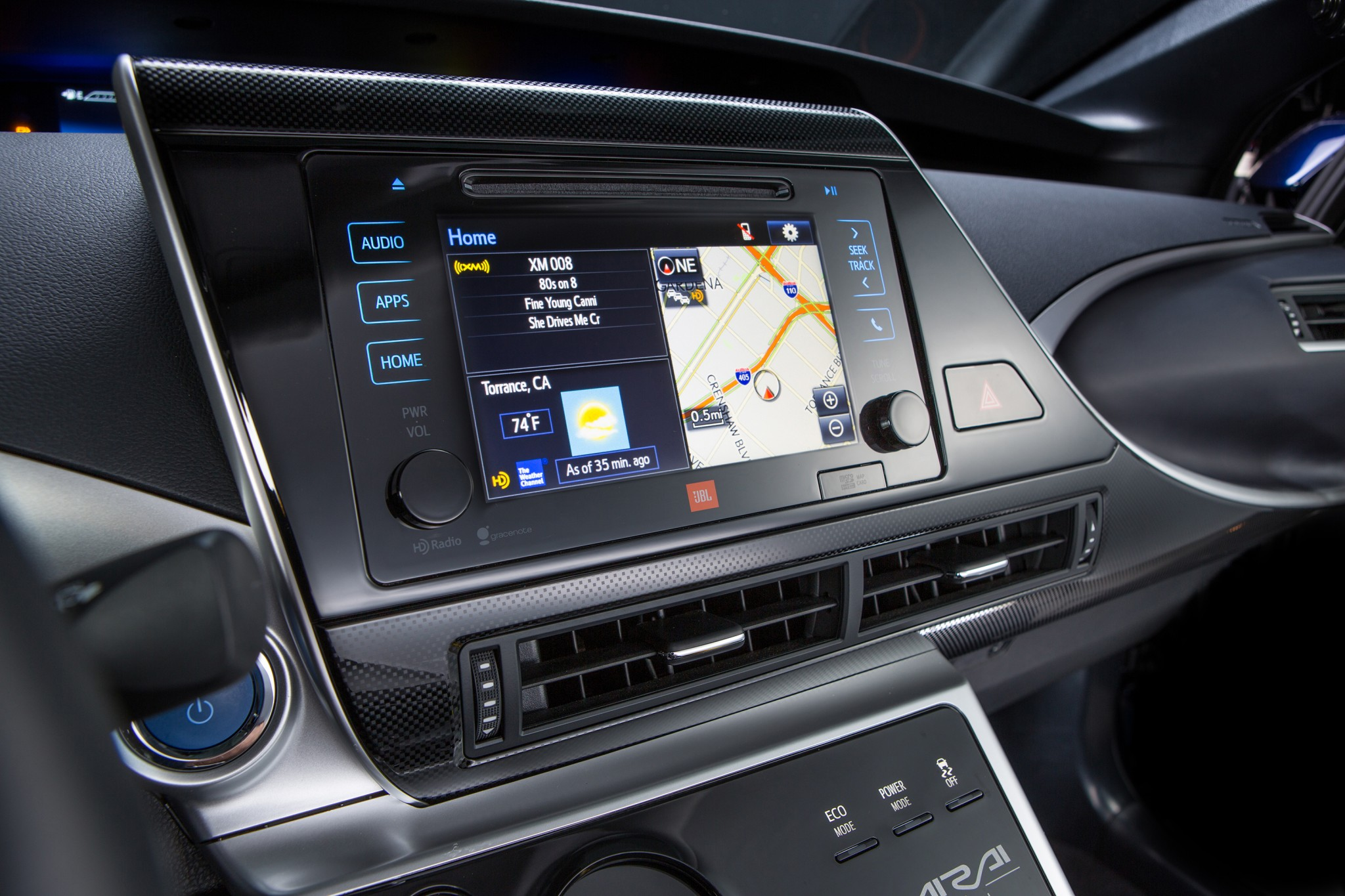 Dashboard Of The 2016 Toyota Mirai Fuel Cell