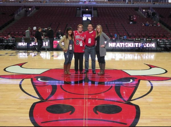 Koda and Kelly Sanborn Bulls Game