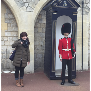 Lindsay Konsko checks out the sights in London.