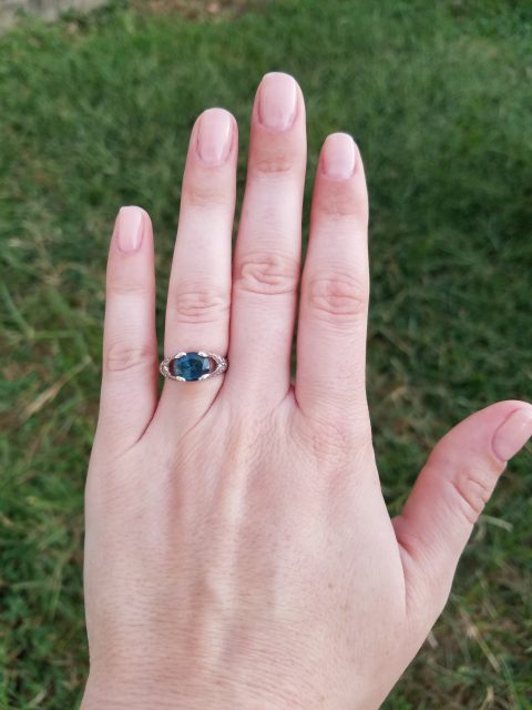Grob's engagement ring. Photo courtesy of Cassie Grob.