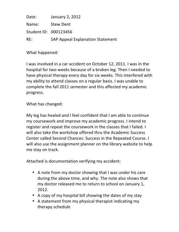 sap appeal letter satisfactory academic progress what it is how to appeal 24726 | sap letter 600x777