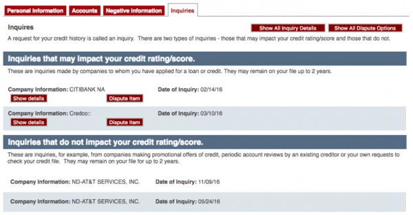 disputing credit