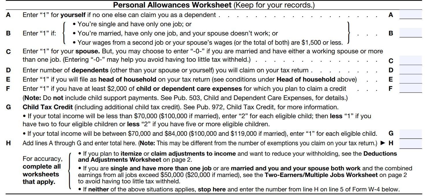How to fill out a w 4 form and decide how much to claim nerdwallet personal allowances worksheet falaconquin
