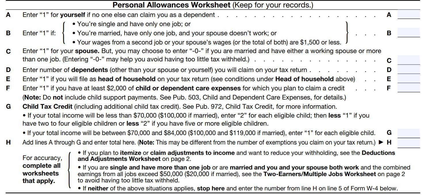 worksheet W 4 Allowances Worksheet how to fill out a w 4 form and decide much claim nerdwallet personal allowances worksheet other two worksheets