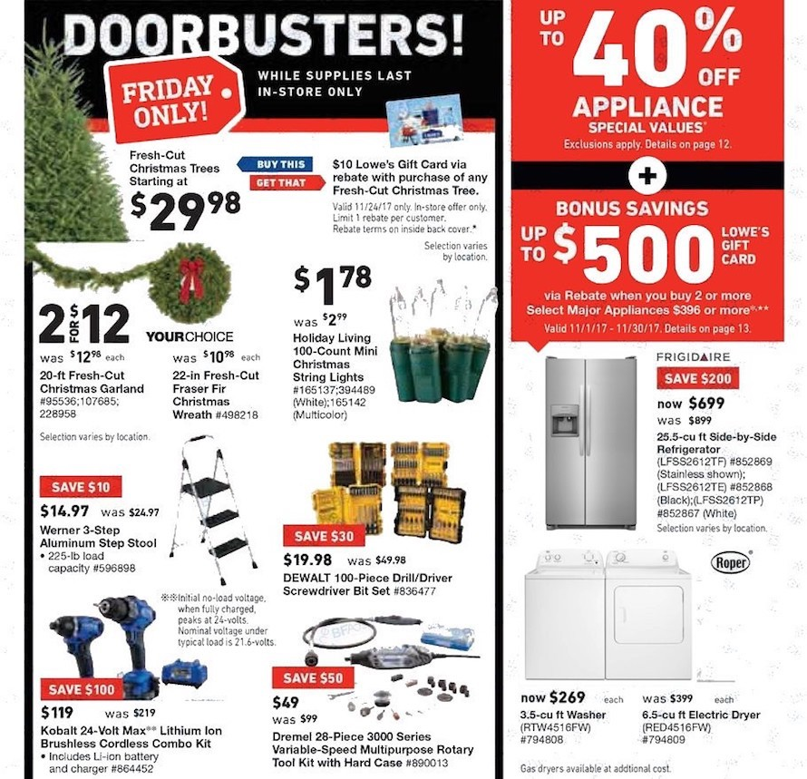 Lowe S Black Friday 2017 Ad Find The Best Lowe S Black