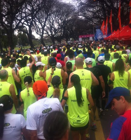 The starting line at the Buenos Aires Marathon.