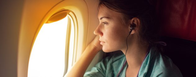 Bring your own entertainment for a flight on a budget airline.