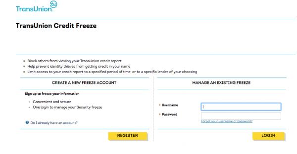 TransUnion freeze