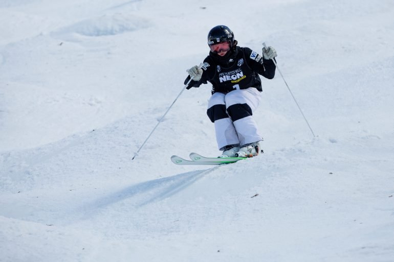 In addition to cleaning houses and busing tables, freestyle skier Jaelin Kauf has raised more than $6,650 on the athlete crowdfunding site RallyMe.