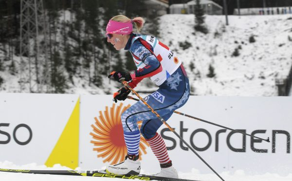 Kikkan Randall has found it challenging to cover child care for her baby son, Breck, while competing overseas. (Photo credit: U.S. Ski Team/Tom Kelly)