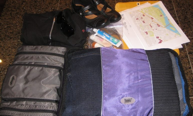 Laura Lynch and her husband use these packing cubes to organize their backpacks while traveling. (Photo courtesy of Laura Lynch.)