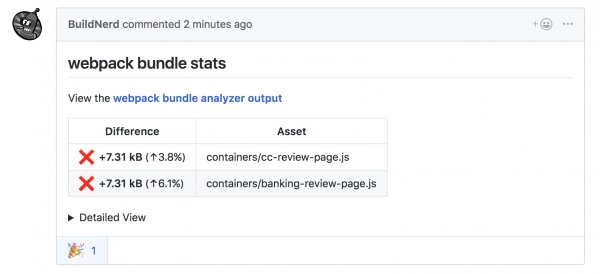 Performance feedback as a github comment