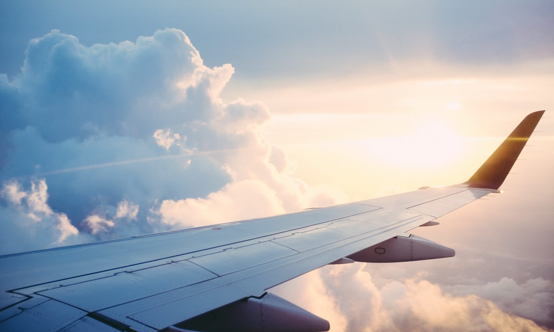 Jetliner in flight