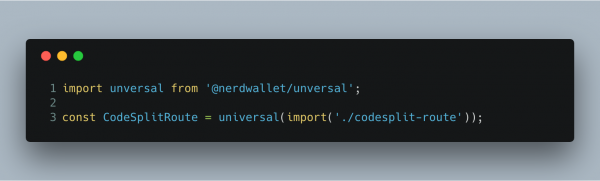 React universal import usage