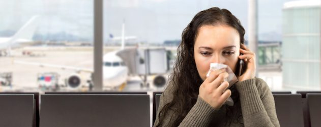 To fight germs on an airplane, wash your hands and sanitize surfaces, experts say.