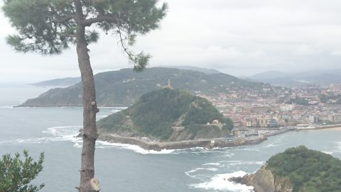 A shot of San Sebastian, along the Camino del Norte.