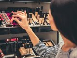 Splurge on two or three important makeup products and save on the rest.