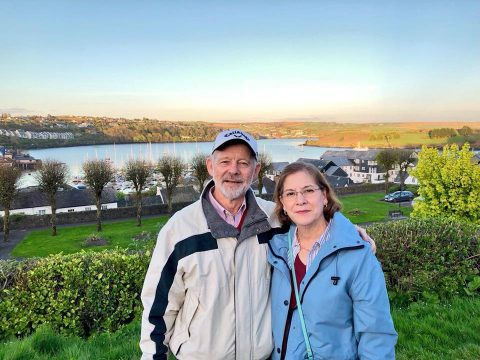 Kenley's parents, Colin and Loril Young, in Kinsale.