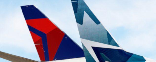 Delta and westjet form customer focused joint venture nerdwallet delta westjet tails in joint venture thecheapjerseys Choice Image
