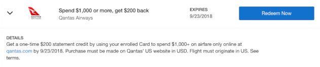 Amex Offer for Qantas