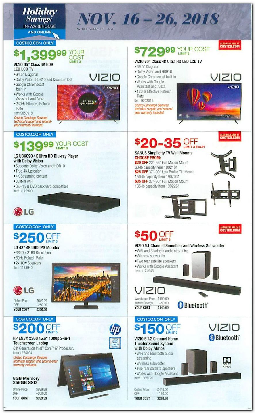 Costco Black Friday 2018 Ad Deals And Store Hours