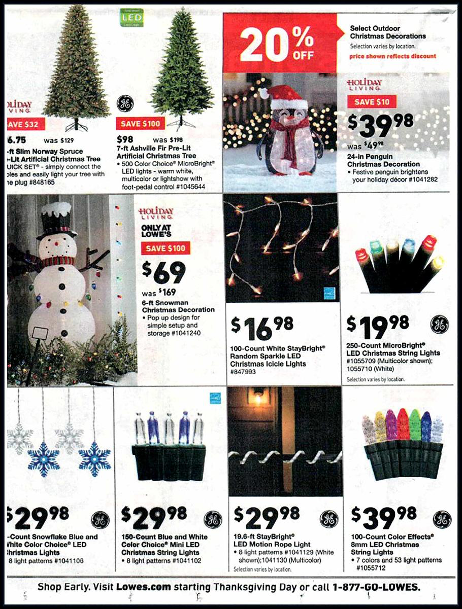 Lowes Christmas Hours.Lowe S Black Friday 2018 Ad Deals And Store Hours Nerdwallet