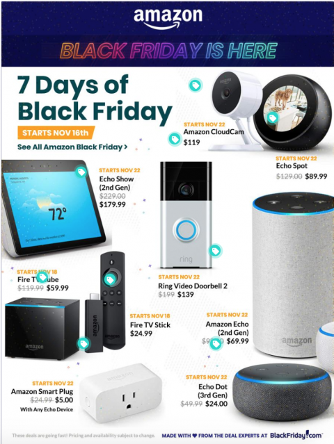 Amazon Black Friday 2018 Ad, Deals and Store Hours - NerdWallet
