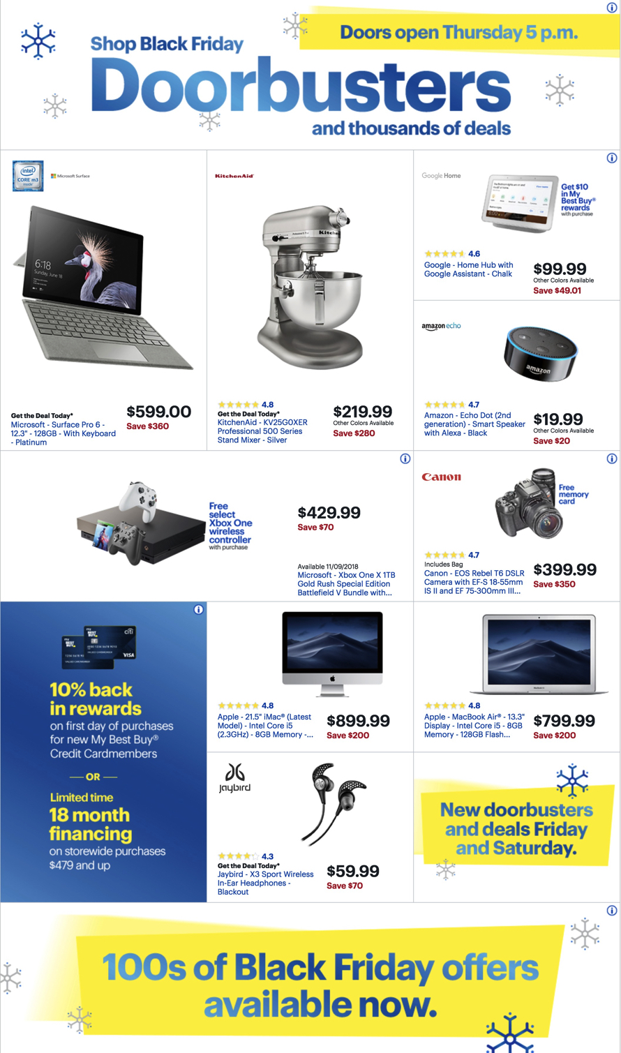e136377e6dd47 Best Buy Black Friday 2018 Ad, Deals and Store Hours - NerdWallet