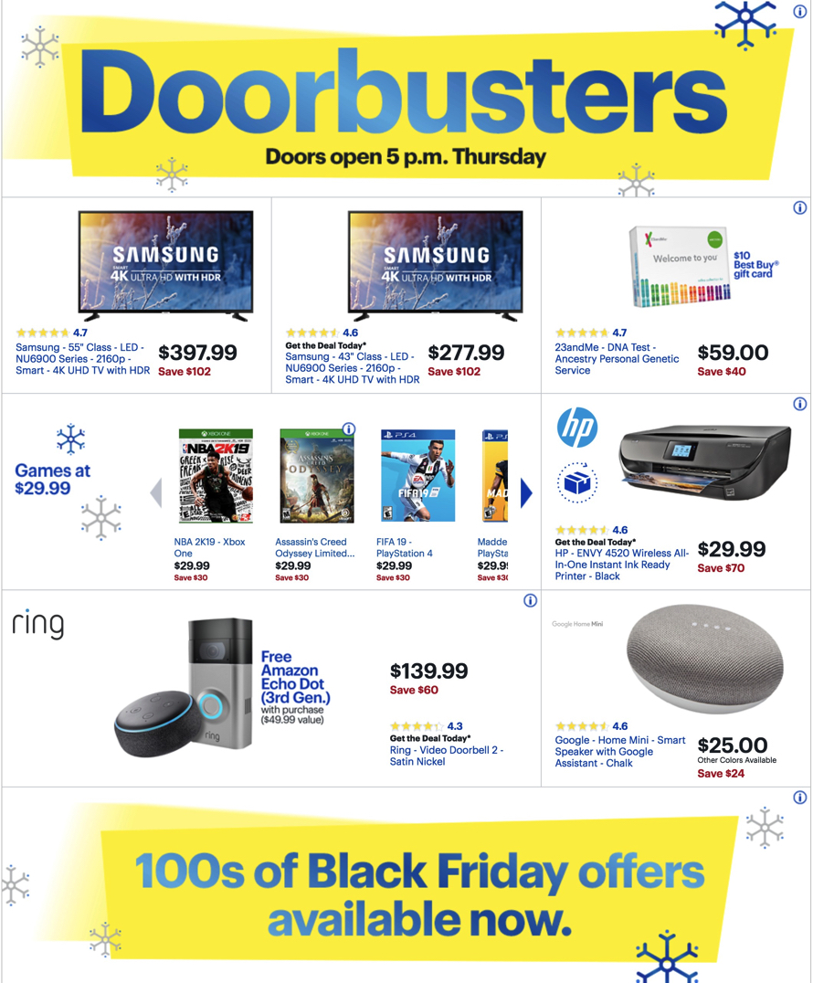 Best Buy Black Friday 2018 Ad Deals And Store Hours Nerdwallet