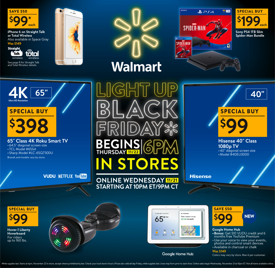 Walmart Black Friday 2018 Ad Deals And Store Hours Nerdwallet