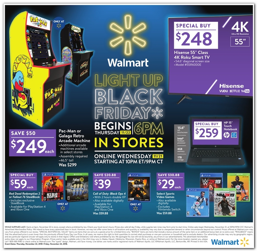 Walmart Black Friday 2018 Ad, Deals and Store Hours - NerdWallet