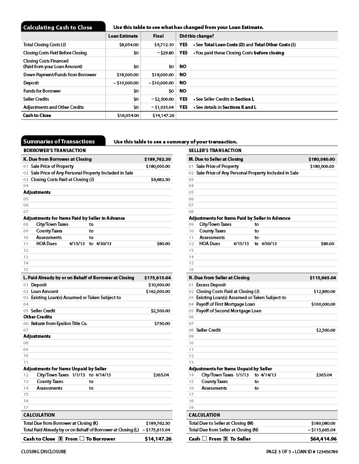 Loan Estimate Page 2 >> The Loan Estimate And Closing Disclosure What They Mean