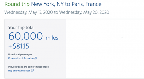 aa how many miles for a free flight