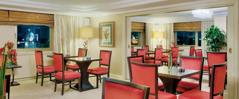 The lounge at Intercontinental Vienna.