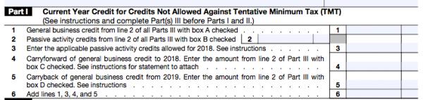 IRS Form 3800
