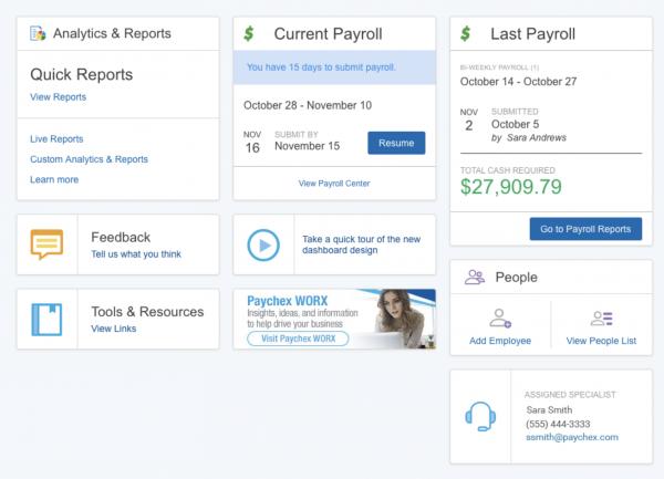 paychex flex dashboard