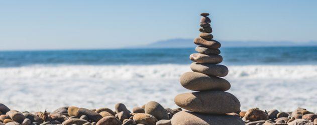 Balanced Rocks on a beach