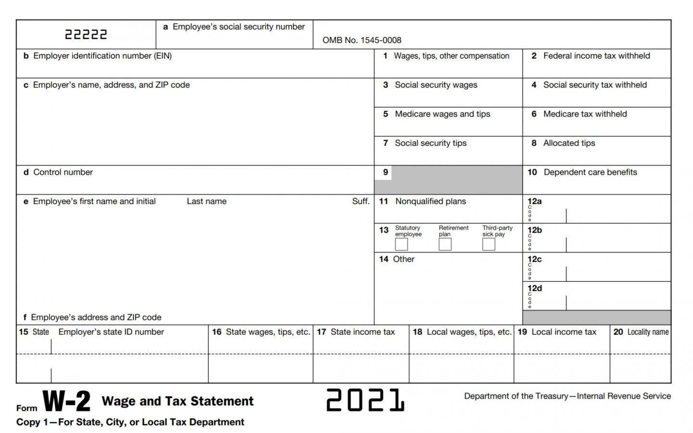 2021 Form W-2