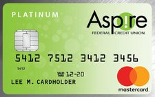 Aspire Federal Credit Union Platinum MasterCard Credit Card