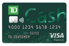 TD Bank Td Cash Credit Card Credit Card