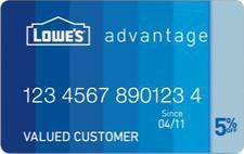 Lowe's Advantage Card