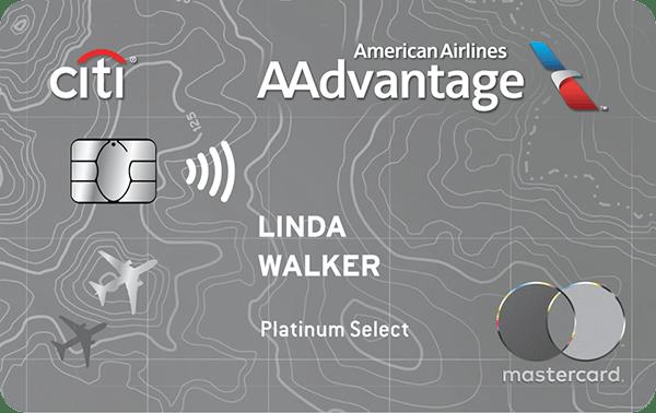 Citibank AAdvantage Platinum Select MasterCard Credit Card